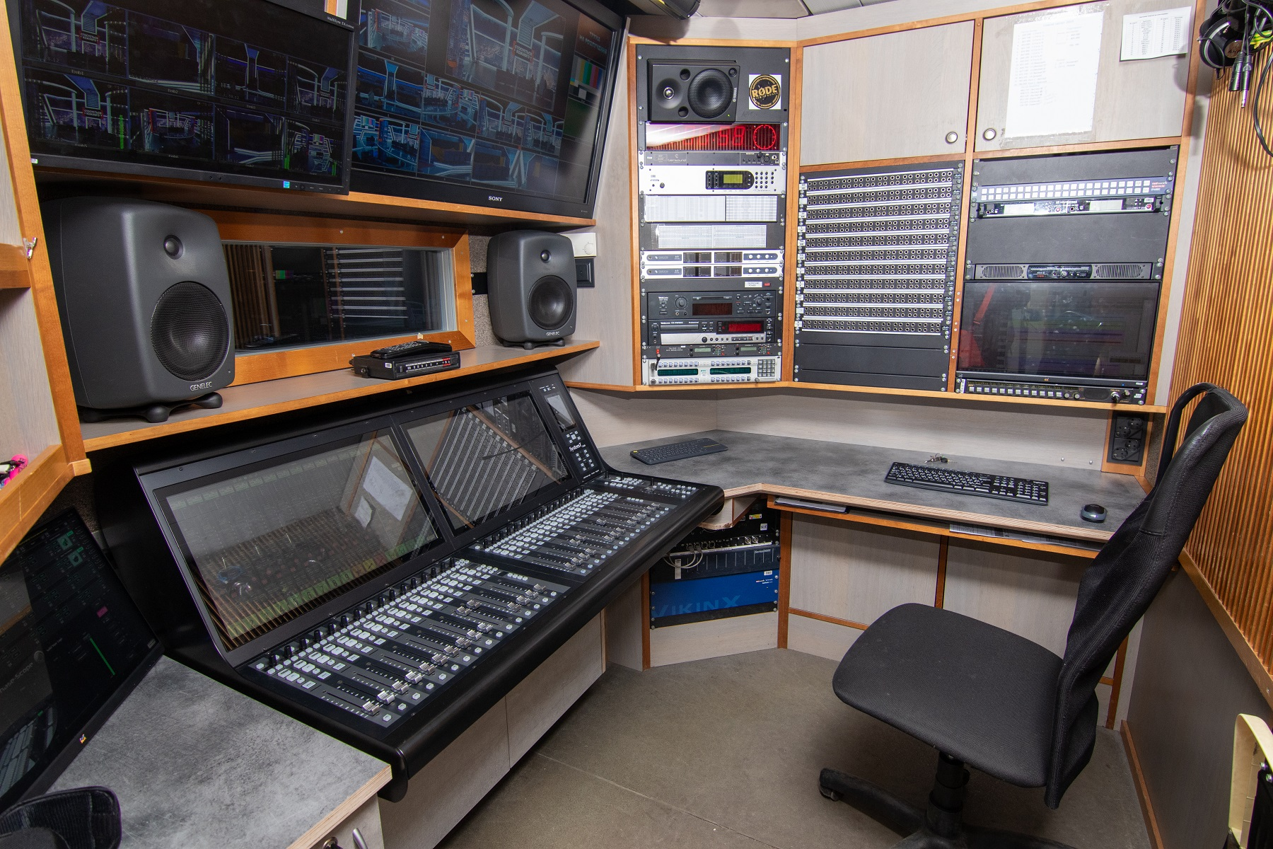 SSL TS300 with Dante protocol and Ross Carbonite Black Plus in Inter's OBVan Upgrade