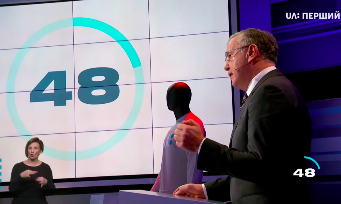 Studio Installation for Ukraine's Presidential Debate 2019